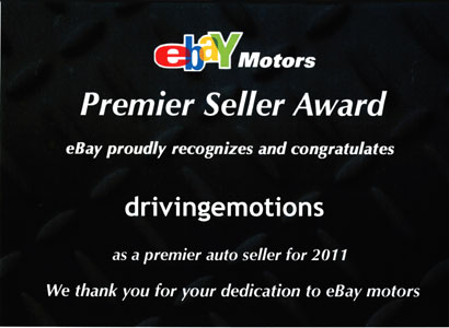 eBay Motors Premier Seller Award 2011