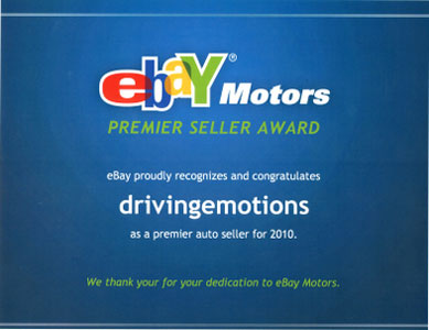eBay Motors Premier Seller Award 2010
