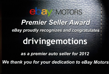 eBay Motors Premier Seller Award 2012