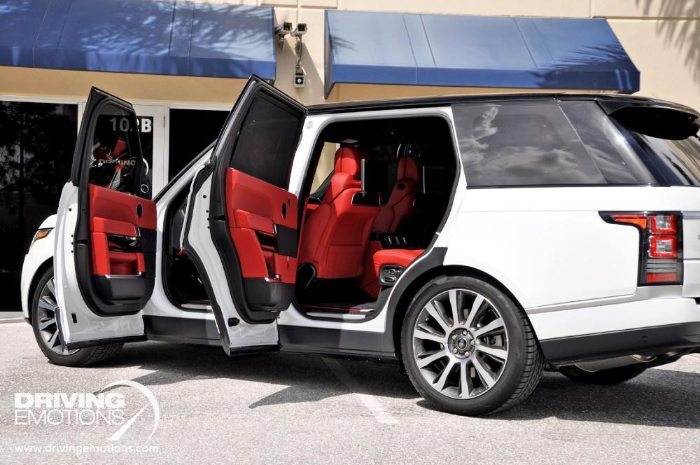 Range Rover Sport White With Red Interior
