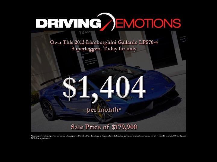 Used 2013 Lamborghini Gallardo LP570-4 Superleggera LP 570-4 Superleggera | Lake Park, FL
