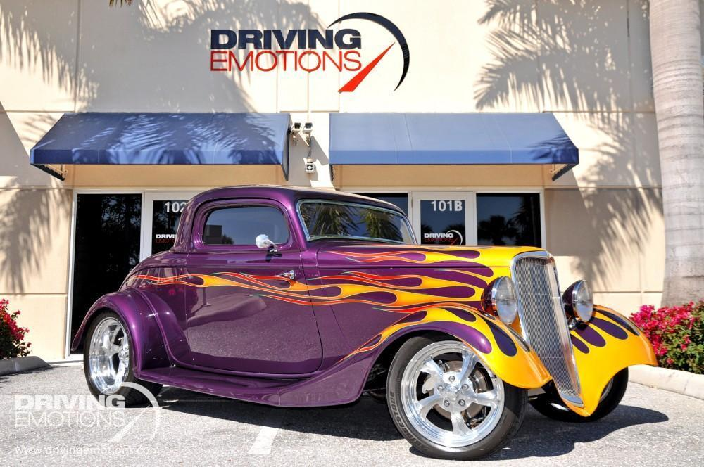 1934 Ford Coupe Steel Body 3 Window Stock 5553 For Sale