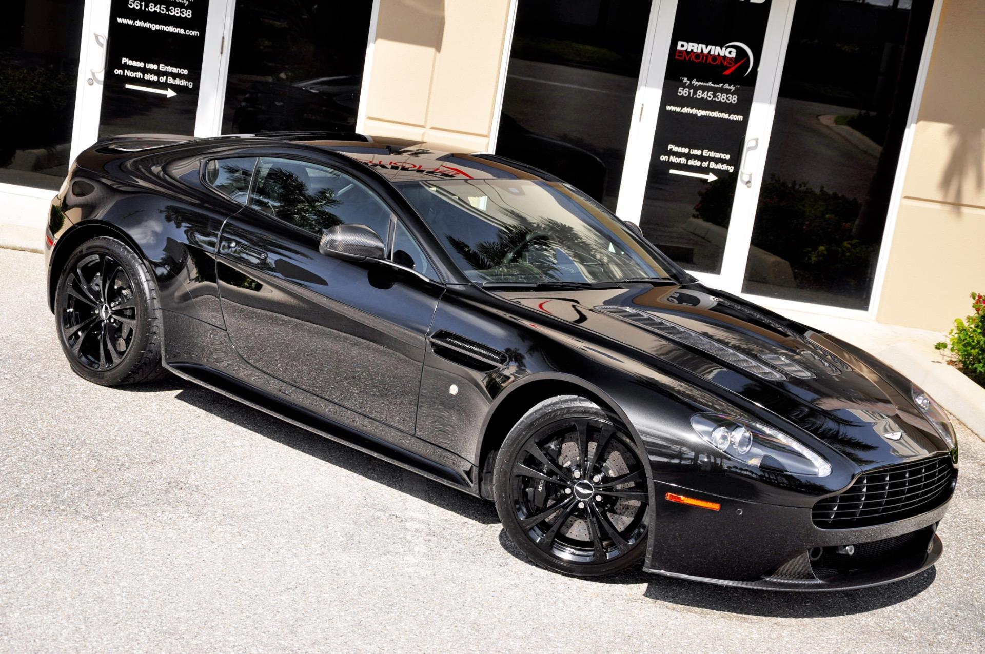 2012 Aston Martin V12 Vantage V12 Carbon Black Stock 6063 For Sale