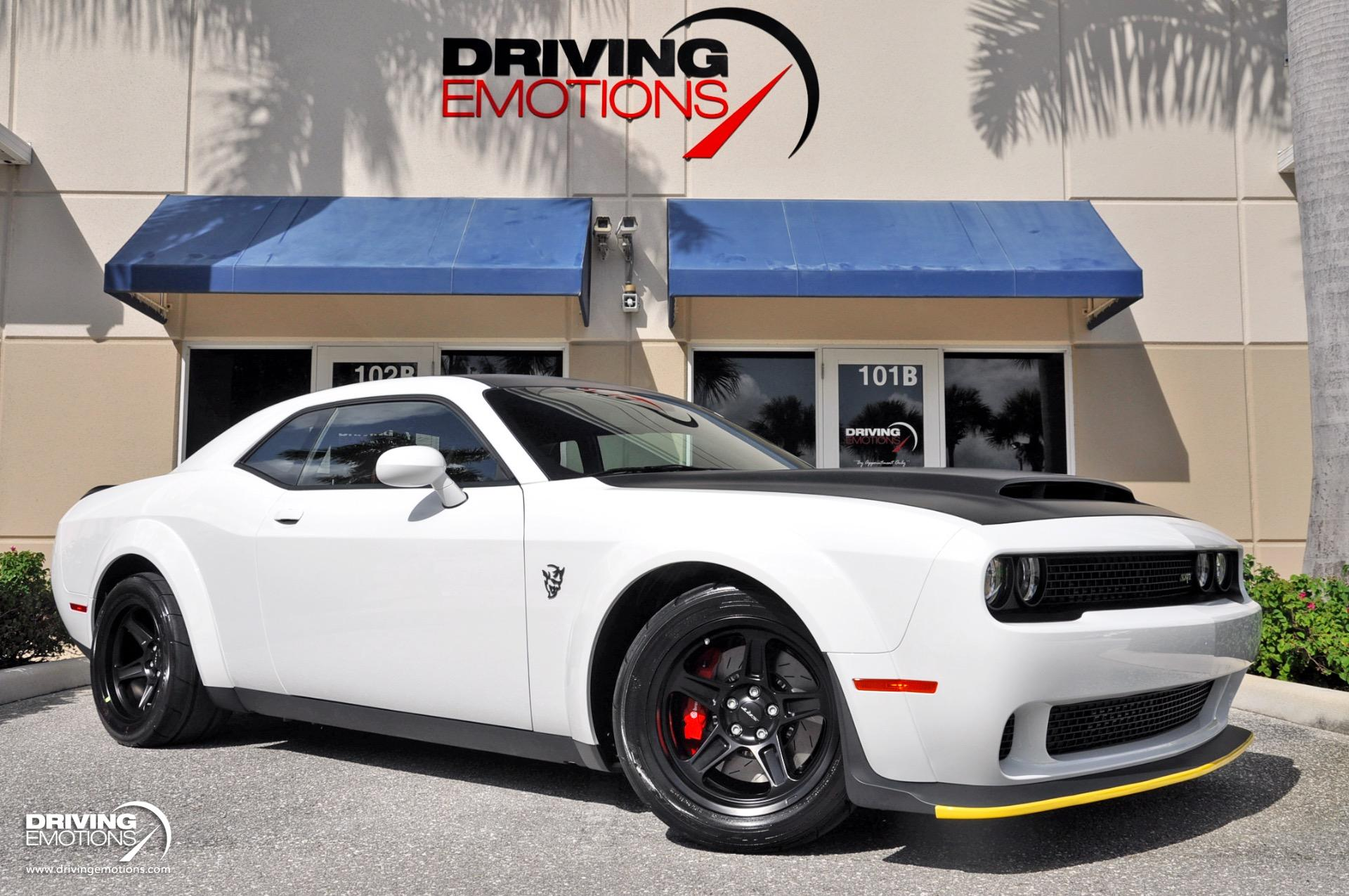 2018 Dodge Challenger Srt Demon Srt Demon White Red Stock 6175 For Sale Near Lake Park Fl Fl Dodge Dealer