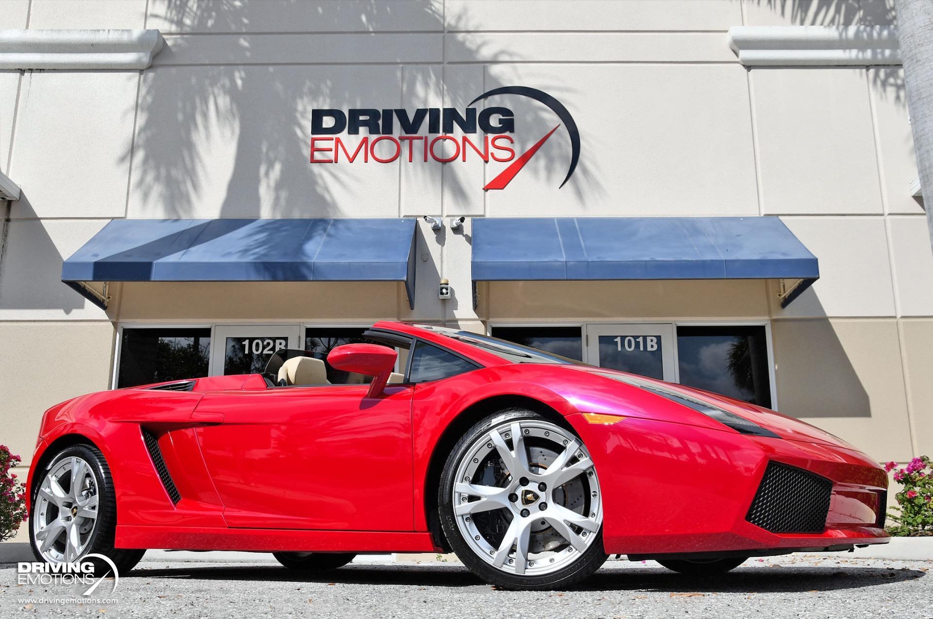 Used 2008 Lamborghini Gallardo Spyder Rosso Targa! | Lake Park, FL