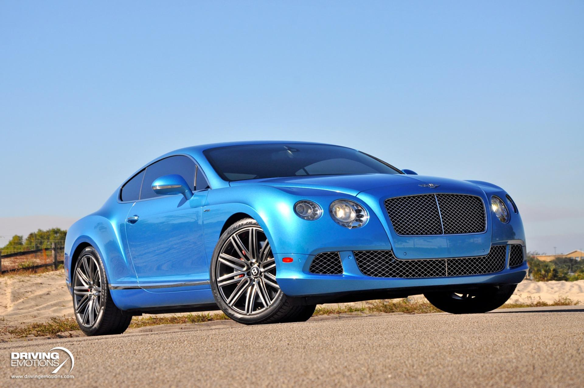 Used 2014 Bentley Continental GT Speed Speed Coupe $248k MSRP!! Kingfisher Blue!!   Lake Park, FL