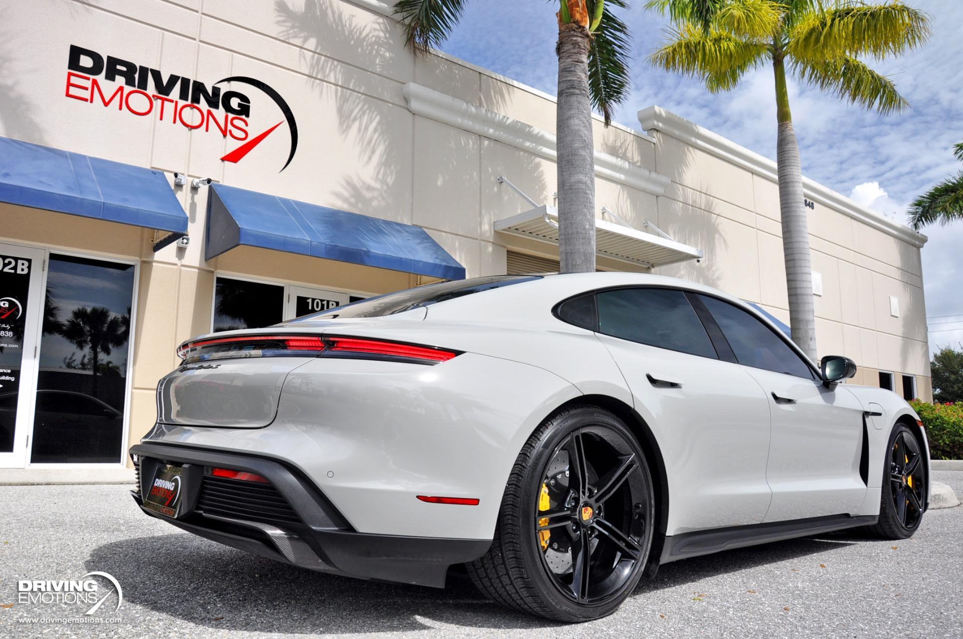 Used 2021 Porsche Taycan Turbo S Turbo S Chalk/Black! Premium Pkg! Passenger Display! | Lake Park, FL