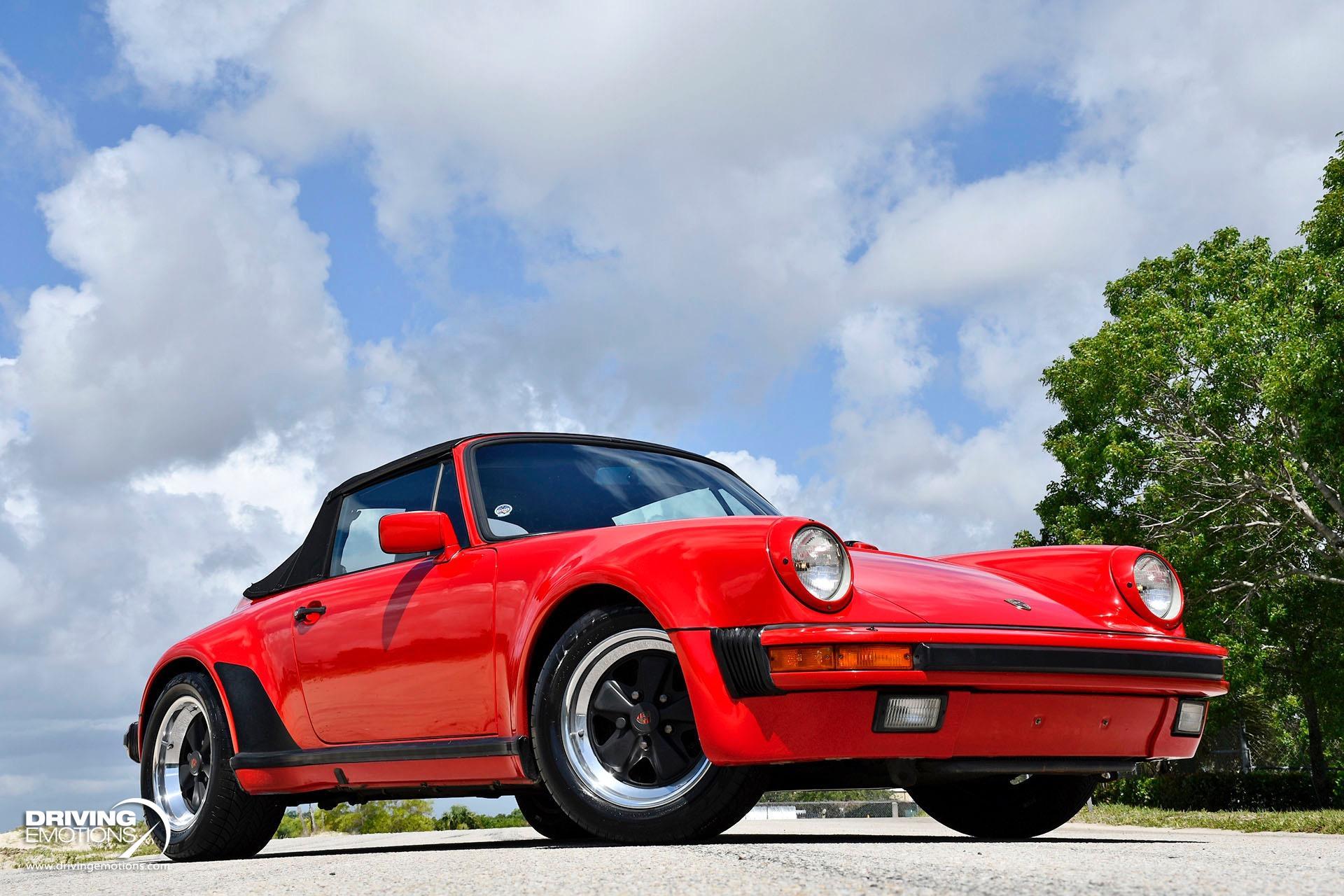 Used 1986 Porsche 911 Carrera Cabriolet M491/M470 Turbo Look Spoiler Delete! RARE!! | Lake Park, FL