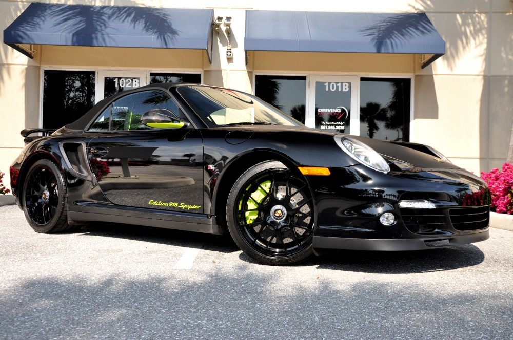 2012 porsche 911 turbo s cabriolet edition 918 spyder 918 spyder stock 5557 for sale near lake. Black Bedroom Furniture Sets. Home Design Ideas